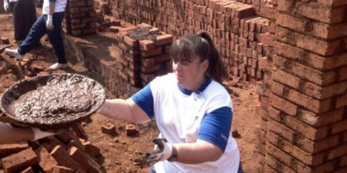 When we sell a property for one of our customers we give 100 bricks towards building houses for families in need in India