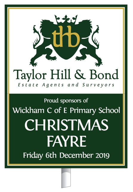 Wickam Church of England primary school Christmas fayre Friday 6th December 2019